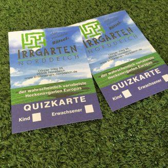 Zwei Eintrittskarten für den Rätselirrgarten Norddeich